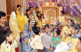 धूमधाम से मनाया गया सरस्वती जन्मोत्सव