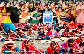 पुष्करणा महिला मंडल ने 121 कन्याओं का पूजन कर मनाया स्थापना दिवस