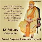12 Fabuary Maharishi Dayanand Saraswati Jayanti